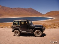laguna Miniques a 4500m de altitude no deserto de Atacama