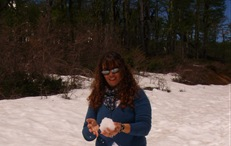 Adivinha so quem levou essa bola de neve?