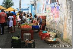 Banca de frutas no Comércio